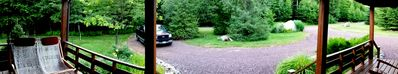 Panoramic view from the front deck