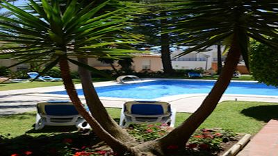 Photo for Beautiful Gardens and Pool, Moments From The Port & El Cristo Beach, Parking