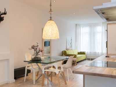 Photo for Trendy studio apartment with canal views and a garden, for a couple, located in Amsterdam?s authenti