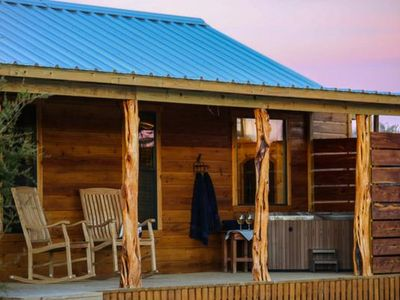 Photo for Absolutely Charming Hill Country Cabin WTO The Hideout, Hot Tub, Full kitchen!
