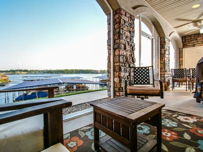 Photo for Exclusive Atrium Level Lands' End Unit - Walk-Out Screened Deck to Pool & Docks!