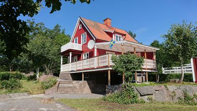 Photo for Holiday home in Småland with a rowing boat, kayak and large veranda, Tjust Skärgård