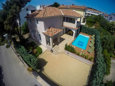 Photo for Villa KRK : exclusive 4**** house, heated pool, 150 m from the sea, sea view