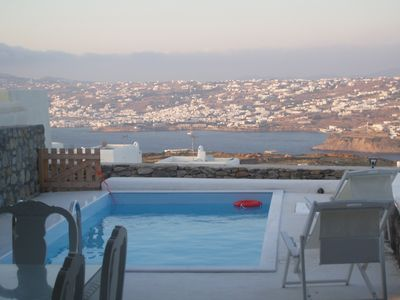 Photo for HOUSE WITH PRIVATE POOL IDEAL FOR UP TO 8 GUESTS FACING  MYKONOS TOWN