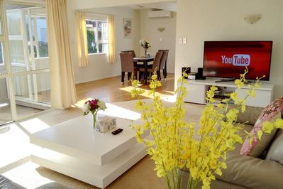 Lay back to enjoy HiFi and 55 inch Smart TV