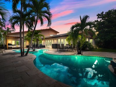 Photo for New Listing! Luxe Waterfront Home w/ Resort-Style Pool, Dock & 3 Living Areas