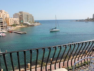 Photo for St. Julian's Spinola Bay 3 Bedroom Apartment on the seafront