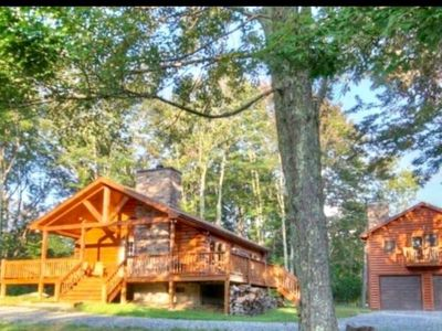 Photo for Dual Cabin w/ Hot Tub, Deck, Fire Pit - In the mountains