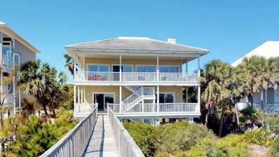 """Photo for Ready To Rent Now! FREE BEACH GEAR! Beachfront, Pet Friendly, Pool, Private Boardwalk, 3BR/3BA """"Endless Summer"""""""