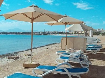 Photo for Beach front flat with sea view in Sahl Hasheesh, Hurghada,