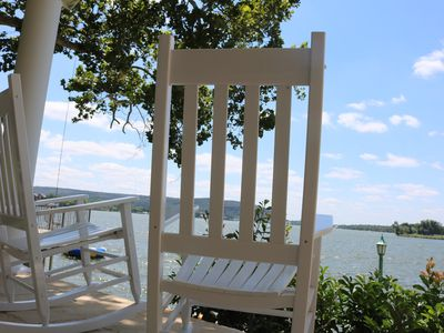 Photo for Lakefront family retreat with, boat slip, kayaks, paddle boards