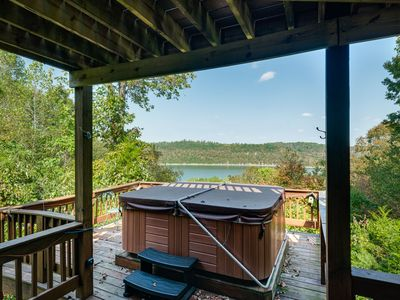 Photo for Soak under the stars in our hot tub & wake to the best view on Dale Hollow!