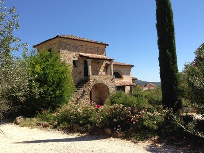 Photo for Mas with private pool in southern Ardeche in the village of Vans