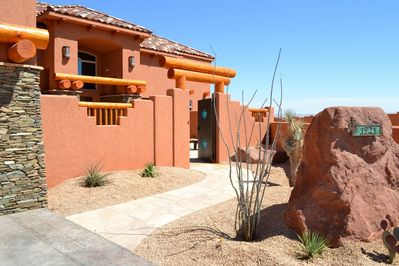 Entrance to your Desert Oasis: The KOKOPELLI HOUSE