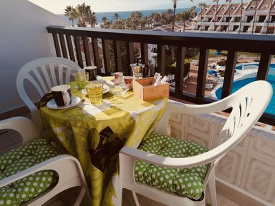Photo for Duplex apartment with incredible sea and mountain views, heated pool