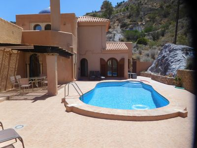 Photo for Luxury villa in the mountains with private pool, 20 minutes from the beach