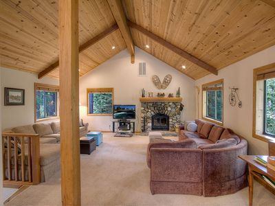 Photo for Woodsy Home, BBQ, Fireplace, Deck, Close to Biking, Skiing, Beach (WSH0820)