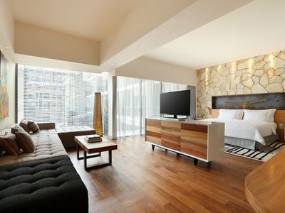 Photo for Spacious Modern Suite with Free Minibar Items (T Sand Suite27)