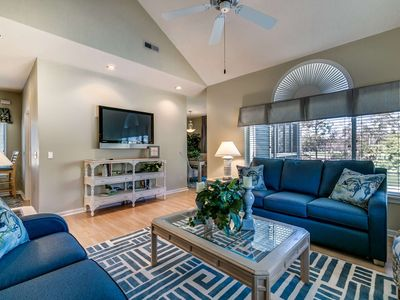 Photo for Lake View Condo with Golf Cart Included at Kingston Plantation - 5 Minute Golf Cart Ride to Beach!