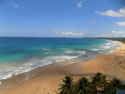 Ocean front, beach front, surf, swim and snorkel area.