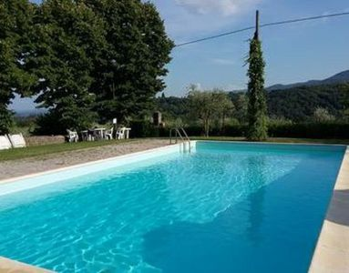 Photo for Panoramic apartment in old convent with pool in Chianti country