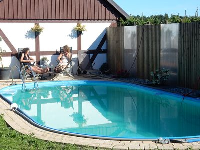 Photo for Holiday apartment with terrace and pool