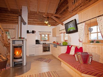 Photo for Chalet, sauna, private setting, fireplace, well-being, terrace, 3 bedrooms, grat. Wireless Internet access