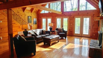 Photo for Secluded Luxury, HotTub, PoolTable, Long Range View, Close to Town, Pet-Friendly