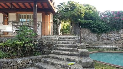 Photo for Delightful villa with garden and private pool in the heart of Ansedonia (8 pax)