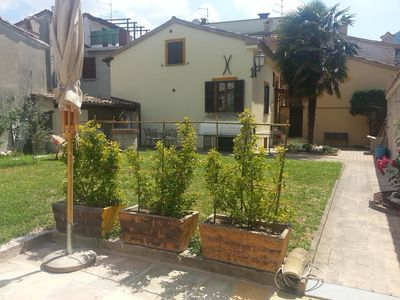 Photo for Mariaa house with large garden protected by high walls, the historic center of Cagli.