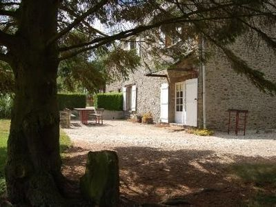 Photo for Stone house in Donnay with illuminated petanque field (Calvados)