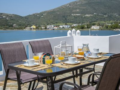 Photo for The Veranda of Gavrion - Deluxe Cycladic House with Splendid Seaview
