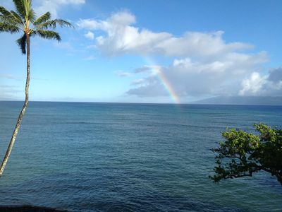 Photo for Oceanfront Top Floor Kahana's Best Reno Whales, Dolphins from the Lanai