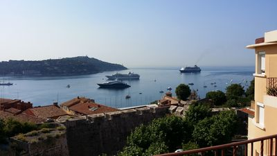 Photo for VILLEFRANCHE-SUR-MER: Stunning 180 degrees views over the bay and Cap Ferrat