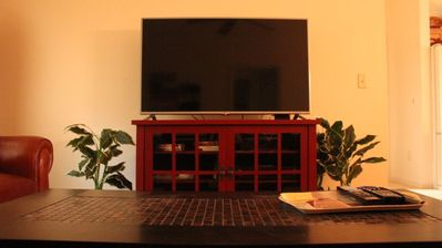 """The 50"""" Flatscreen will be great for watching all your favorite shows!"""