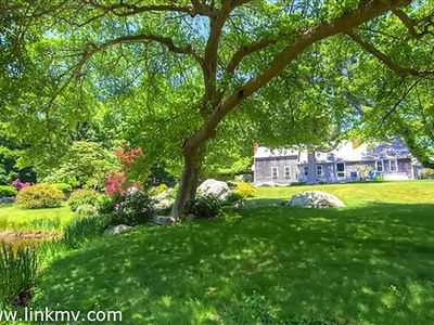 Photo for Secluded retreat in Seven Gates Farm on 7 Acres, Private Beach, Tennis, Pond