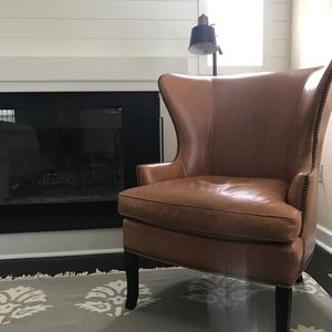 Living Room with Shiplapped Fireplace