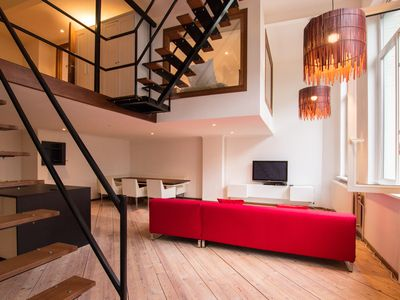Photo for Great loft with garden in the heart of Antwerp old city