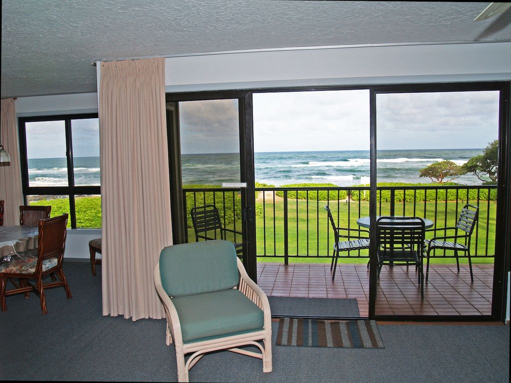 Premier oceanfront condo at kauai beach villas vrbo imagine having this incredible oceanfront view every day of your kauai vacation solutioingenieria Image collections