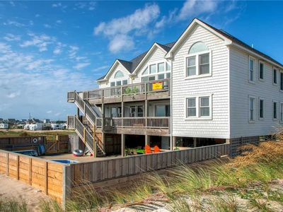 Photo for Out the Door Beach Access! Oceanfront Rodanthe-Pool, Hot Tub, GameRoom, Tiki Bar