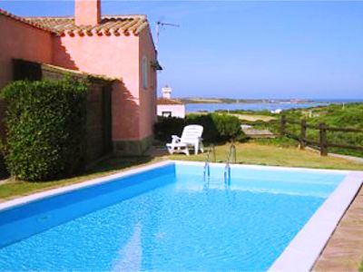 Photo for Stintino Spectacular, villa with pool for 5 people sea view and garden