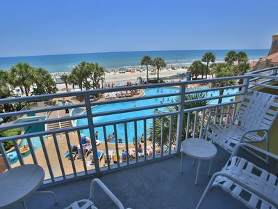 Photo for Gorgeous  3 Bedroom Ocean Front - 4th floor - Wyndham Ocean Walk Resort