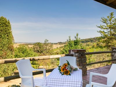 Photo for Country Cottage with aircon & panoramic view by the town of Bertinoro