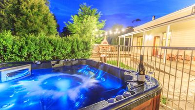 Photo for Outdoor hot tub, wood fire pizza oven, family and pet friendly set on 50 acres