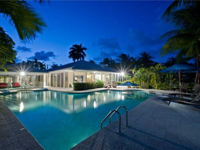 Photo for Great Escape: Serene Cove Villa in the Quiet Neighborhood of Cayman Kai with Pool & Dock