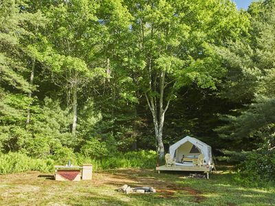 Photo for Tentrr - Pond View - One Bedroom Camping, Sleeps 4