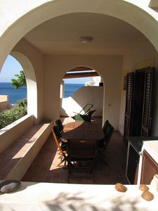Photo for COMFORTABLE APARTMENT WELL FURNISHED DIRECTLY ON THE BEACH - Hierà