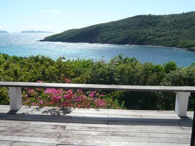 Photo for Waterfront Caribbean Villa with panoramic ocean & beach views