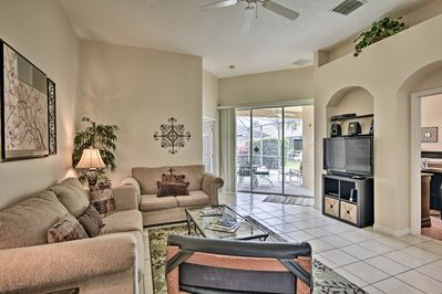 Beat the heat in the air-conditioned living spaces.