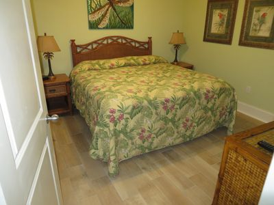 New King bed in Bedroom 2